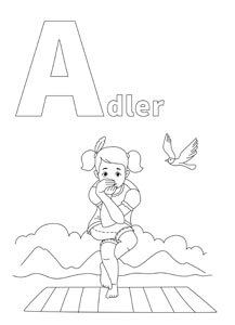 YOGA-ALPHABET Malbild Adler