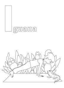 YOGA-ALPHABET Malbild Iguana