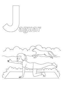 YOGA-ALPHABET Malbild Jaguar