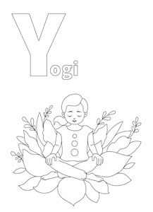 YOGA-ALPHABET Malbild Yogi
