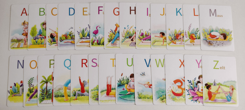 Yoga Abc Cards Com Yoga Alphabet Karten Fur Kinder