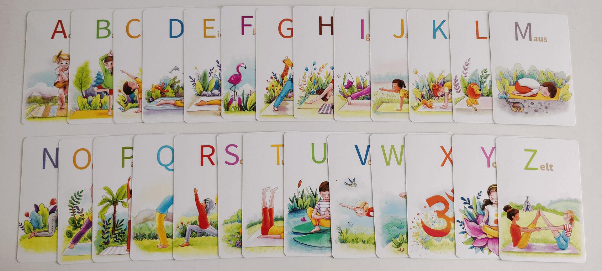 YOGA-ALPHABET Karten 26 Buchstaben