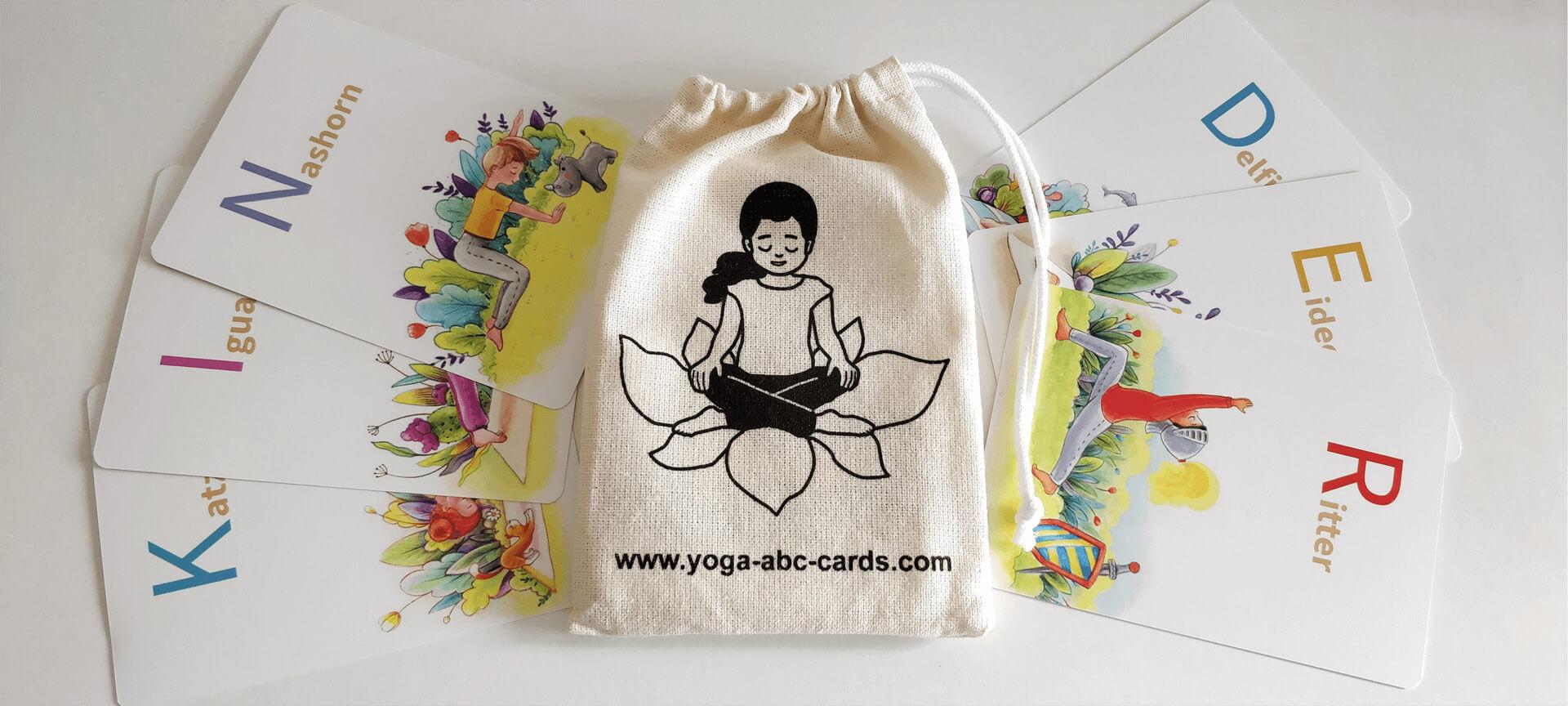 YOGA-ALPHABET Karten Säckchen